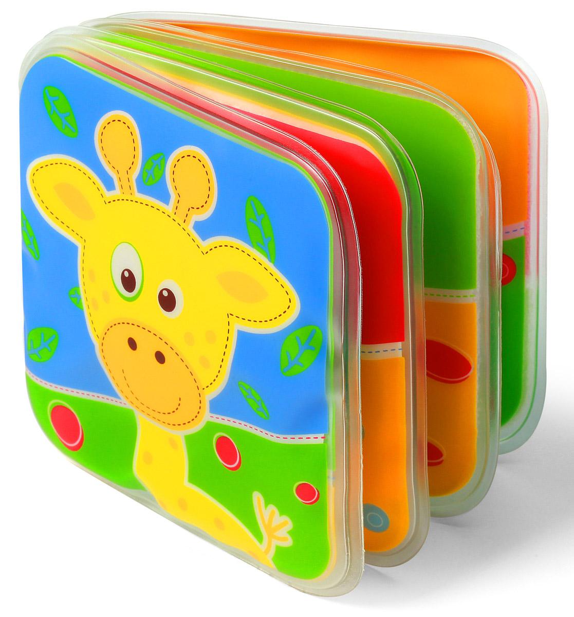 BabyOno Книжка-игрушка Жираф891_жирафКнижка-игрушка BabyOno - это 8 цветных мягких страниц, которые учат различать цвета и животных. На страничках книжки поселились животные, с которыми малыш с удовольствием познакомится во время купания. Книжечка подойдет не только для ванной, ее можно использовать в обычной игре малыша в комнате или на прогулке. Яркие странички книжки пищат при нажатии, чем привлекут внимание ребенка. Книжка-пищалка развивает мануальные способности. Интенсивные цвета и различные формы вызывают интерес и привлекают внимание ребенка. Книжка изготовлена из безопасных, прочных и нетоксичных материалов. Не содержит бисфенол А.