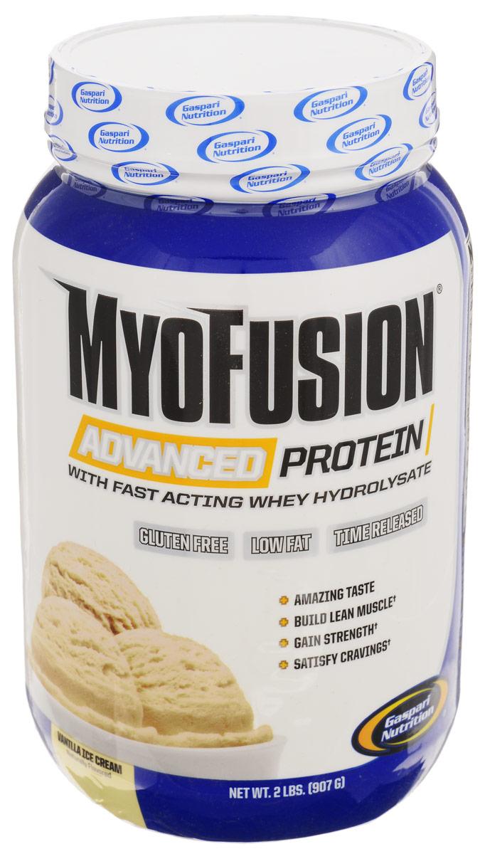 Протеин Gaspari Nutrition MyoFusion Advanced, ванильное мороженое, 907 гG2393Протеин Gaspari Nutrition MyoFusion Advanced - это многокомпонентный протеин, полученный из 5 различных источников белка (быстроусвояемый сывороточный гидролизат, ультрачистый сывороточный изолят, сывороточный концентрат, медленно переваривающийся мицеллярный казеин и молочным протеин). Белок - это основа вашей диеты, он ускоряет восстановление организма после тренировок, а также является главным компонентом в построении мышечной массы. В каждой порции содержится 25 г протеина, компоненты которого имеют разное время поглощения, и все это без добавления сахара, кукурузного сиропа, глютена и синтетических красителей. С таким продуктом вы получите настоящую сухую мышечную массу. Gaspari Nutrition MyoFusion Advanced- это вкуснейший протеиновый коктейль, который способен удивить даже истинных гурманов. Рекомендации по применению: До 3 порций в день. Рекомендации по приготовлению: 38 г (одна мерная ложка) порошка растворить в 240 мл воды или...