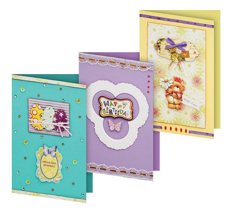 Набор для создания 3-х открыток Белоснежка Сувенир102-SBНабор для создания открыток в технике скрапбукинг включает в себя заготовки для открыток, различные декоративные бумажные элементы, стразы, бусины, пайетки, ленты и инструкцию по сборке. Набор дополнен оригинальными карточками в стиле Шебби-Шик, необходимо только вырезать заготовки из макета и закрепить на открытке. Красивые элементы помогут сделать открытки более яркими и разнообразными. В набор входит: 3 заготовки для открыток 115*170 мм 3 конверта бумага для скрапбукинга клеевые подушечки Декоративные элементы: вырубка из картона, ленты, паетки, стразы, полубусины