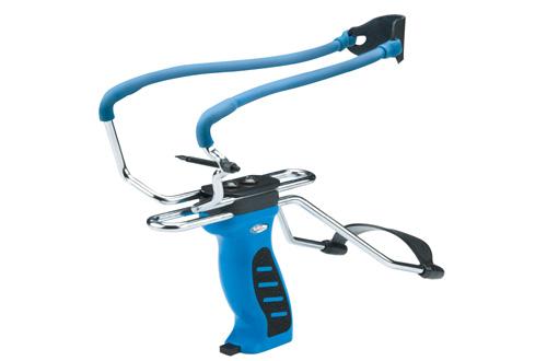 Рогатка Man Kung MK-SL06 с упором и магазином, цвет: голубойMK-SL06/BLРогатка с удобным упором для предплечья и магазином.