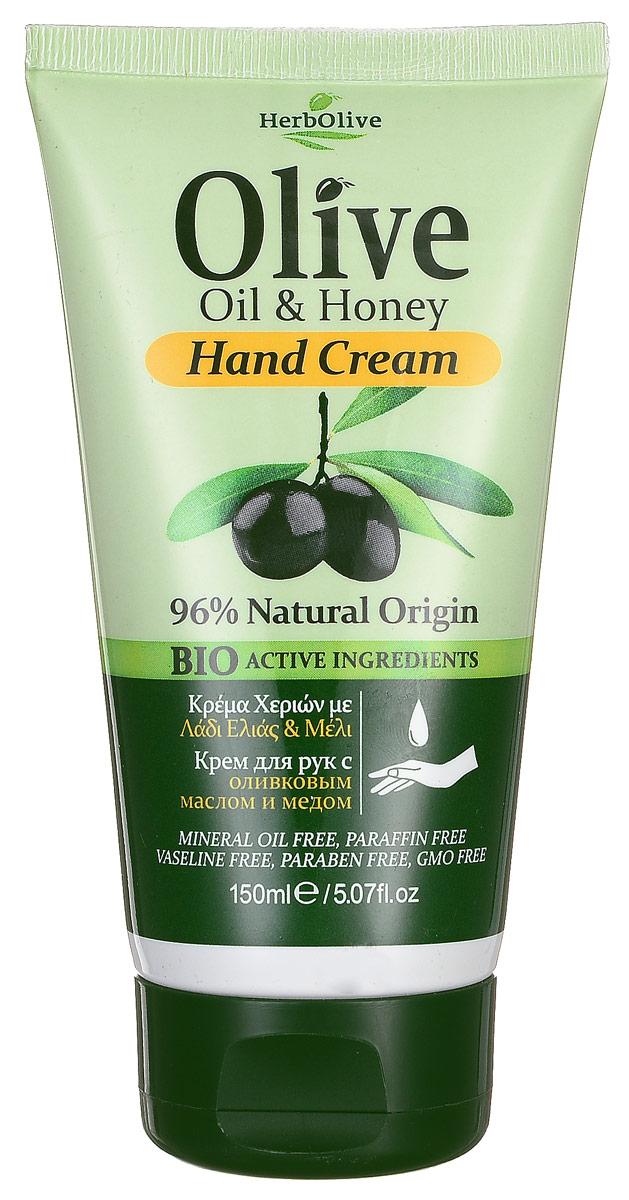 HerbOlive Крем для рук с натуральным медом 150 мл5200310400919Крем для рук с натуральным медом питает кожу энергией и биологически активными веществами, усиливает кровообращение, на основе органического масла оливы идеально подходит для ежедневного использования. Легко впитывается увлажняет и смягчает кожу рук, защищает от сухости, раздражений, трещин и ежедневного воздействия внешней агрессивной среды. Увлажняет руки, делая их мягкими и гладкими. Косметика произведена в Греции на основе органического сырья, НЕ СОДЕРЖИТ минеральные масла, вазелин, пропиленгликоль, парабены, генетически модифицированные продукты (ГМО)