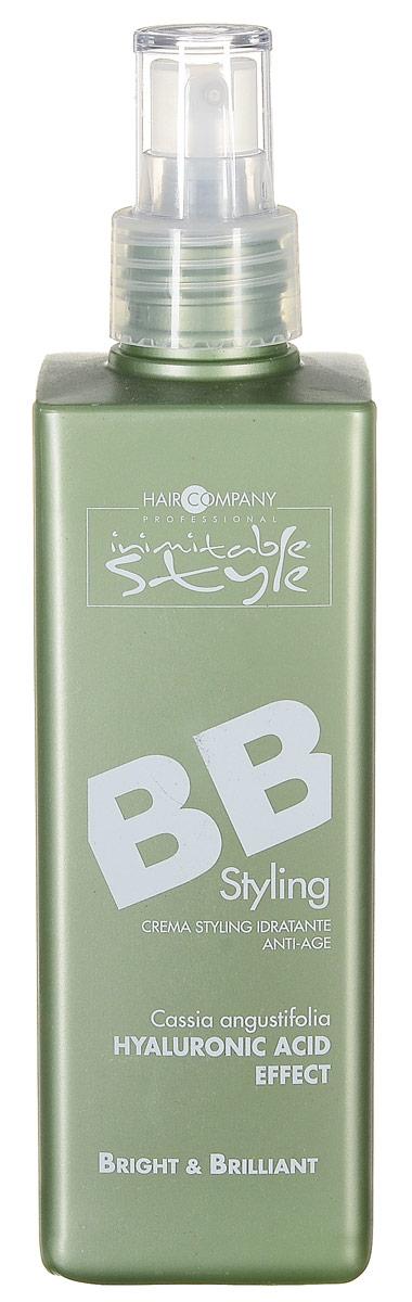 Hair Company Крем для стайлинга Professional Inimitable Style BB Styling 250 мл254605/LB12087 RUSInimitable STYLE BB Styling Крем Увлажняет, питает и защищает волосы от пагубного воздействия солнечных лучей. Крем обогащен экстрактом Кассия Узколистная – натуральным заменителем гиалуроновой куислоты. Который обеспечивает прекрасное увлажнение поврежденных волос. Комплекс активных моделирующих и кондиционирующих веществ Myrusyle MFP позволяет делать укладку даже на очень сложных волосах. УФ-фильтр и Витами Е в составе формулы гарантируют отличную защиту от солнечных лучей, что особенно актуально в отпуске летом. В состав проукта входят: экстракт Кассии Узколистной, комплекс веществ Myrusyle MFP, УФ-фильтр, витами Е.