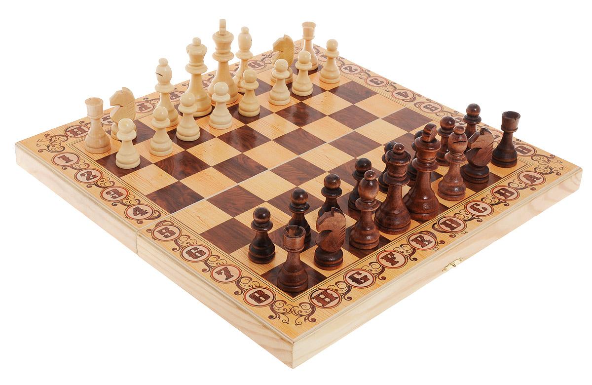 Шахматы Perfecto Дебютsh-016Шахматы Perfecto Дебют выполнены из высококачественной древесины березы и хвойных пород деревьев. Деревянный кейс выполнен в классическом дизайне, закрывается на металлический замок. Игровое поле расположено с внешней стороны. В наборе имеются 32 шахматные фигуры. Шахматы - настольная логическая игра, которая соединяет в себе элементы и искусства, и науки, и спорта. Название берет начало из персидского языка шах и мат, что означает шах умер. Считается, что история шахмат насчитывает не менее полутора тысяч лет. Впервые наиболее близкая по смыслу игра появилась в Индии в 6 веке нашей эры, затем, претерпев некоторые изменения в правилах, начала распространяться в близлежащих странах. Модификации игры продолжались, пока в 19 веке не сформировались окончательные правила, необходимые для проведения международных турниров. Шахматы помогут развить логическое мышление и позволят вам интересно и с пользой провести время. Размер кейса в сложенном виде: 40 х 20 х 5...