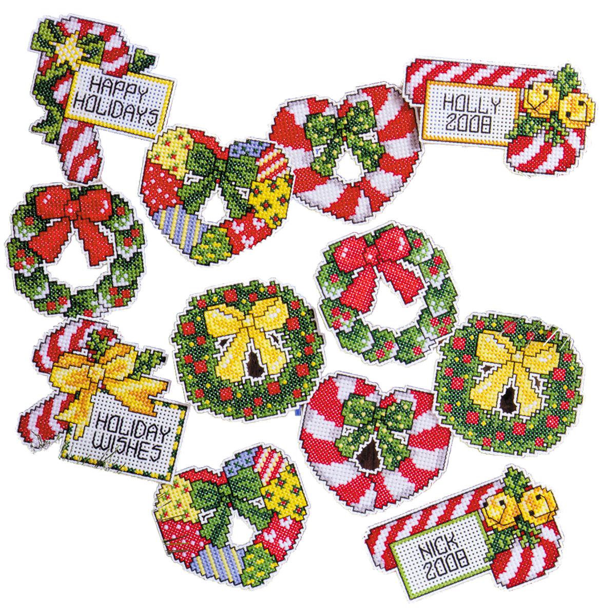 Набор для вышивания игрушки Design Works Карамельки и венки, 7 х 9 см, 12 шт1659Для 12 игрушек: канва пластиковая 14, нитки мулине (100% хлопок), игла, инструкция на русском языке.