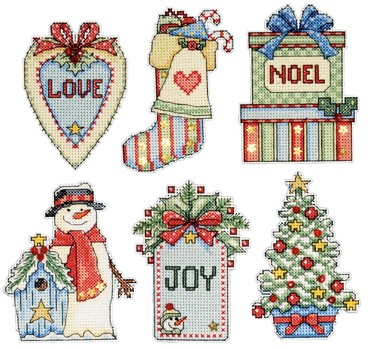 Набор для вышивания игрушки Design Works Страна Рождества, 7 х 9 см, 6 шт1683Для 6 игрушек: канва пластиковая 14, нитки мулине (100% хлопок), игла, инструкция на русском языке.