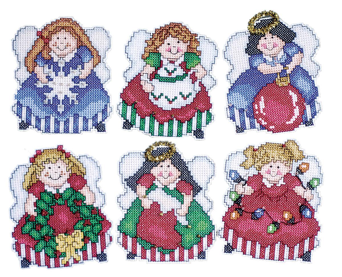Набор для вышивания игрушки Design Works Ангелочки-пышечки, 7 х 9 см, 6 шт1685Для 6 игрушек: канва пластиковая 14, нитки мулине (100% хлопок), игла, инструкция на русском языке.