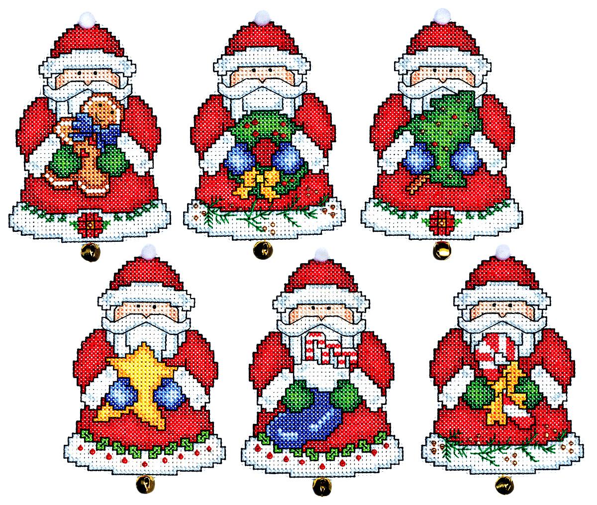 Набор для вышивания игрушки Design Works Подарки Санты, 7 х 9 см, 6 шт1693Для 6 игрушек: канва пластиковая 14, нитки мулине (100% хлопок), игла, инструкция на русском языке.