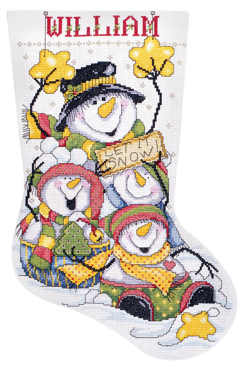 Набор для вышивания крестом Design Works Да здравствует снег, 43 см5409Канва Аида 14 (100% хлопок), ткань для обратной стороны сапожка, нитки мулине (100% хлопок и металлизированные), бусины, игла, подробная инструкция со схемой вышивки