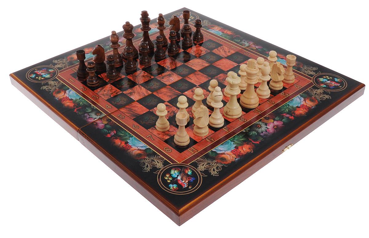 Игровой набор 3в1 Perfecto Цветы: нарды, шахматы, шашкиsh-010Игровой набор 3в1 Perfecto Цветы - это сразу 3 игры: нарды, шахматы и шашки. В набор входят шахматные фигуры, фишки для нард и шашек, 2 кубика и кейс. Изделия выполнены из высококачественной древесины березы и хвойных пород деревьев. Деревянный лакированный кейс выполнен в оригинальном цветочном дизайне и имеет два поля: внутреннее для игры в нарды и поле снаружи для шахмат и шашек. Кейс закрывается на металлический замок. Такой набор станет замечательным подарком к любому случаю. Качество, дизайн и функциональность сделают его желанным для каждого. Размер кейса в сложенном виде: 50 х 25 х 5 см. Размер игрового поля для игры в нарды: 50 х 50 см. Размер игрового поля для игры в шашки: 37,5 х 37,5 см. Диаметр шашки: 2,8 см. Высота короля: 9 см.