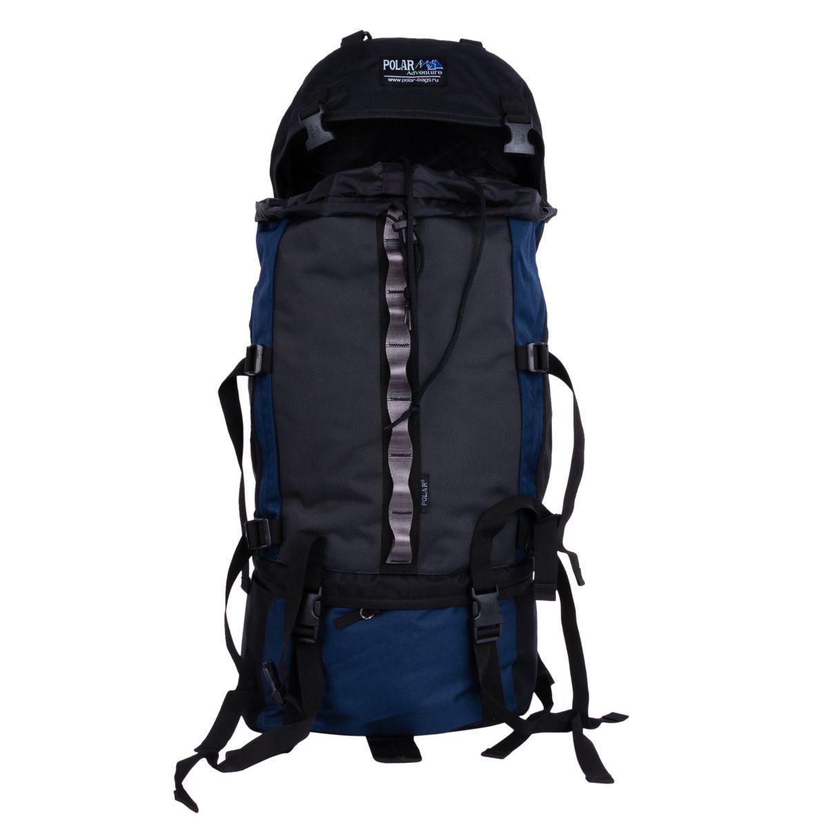Рюкзак экспедиционный Polar, 50 л, цвет: синий. П931-04П931-04Туристический рюкзак фирмы Polar. Объем на 50 л. Отлично оснащенный рюкзак для альпинизма и туризма. Двойной доступ к основному отделению, множество карманов для мелочей и документов, карабин для ключей, карман для мобильного. Возможность крепления на рюкзак дополнительного оборудования. Регулируемая грудная стяжка с фиксатором. Регулируемый по длине поясной ремень с карманами на змейке. Материал: Polyester PU 600D.