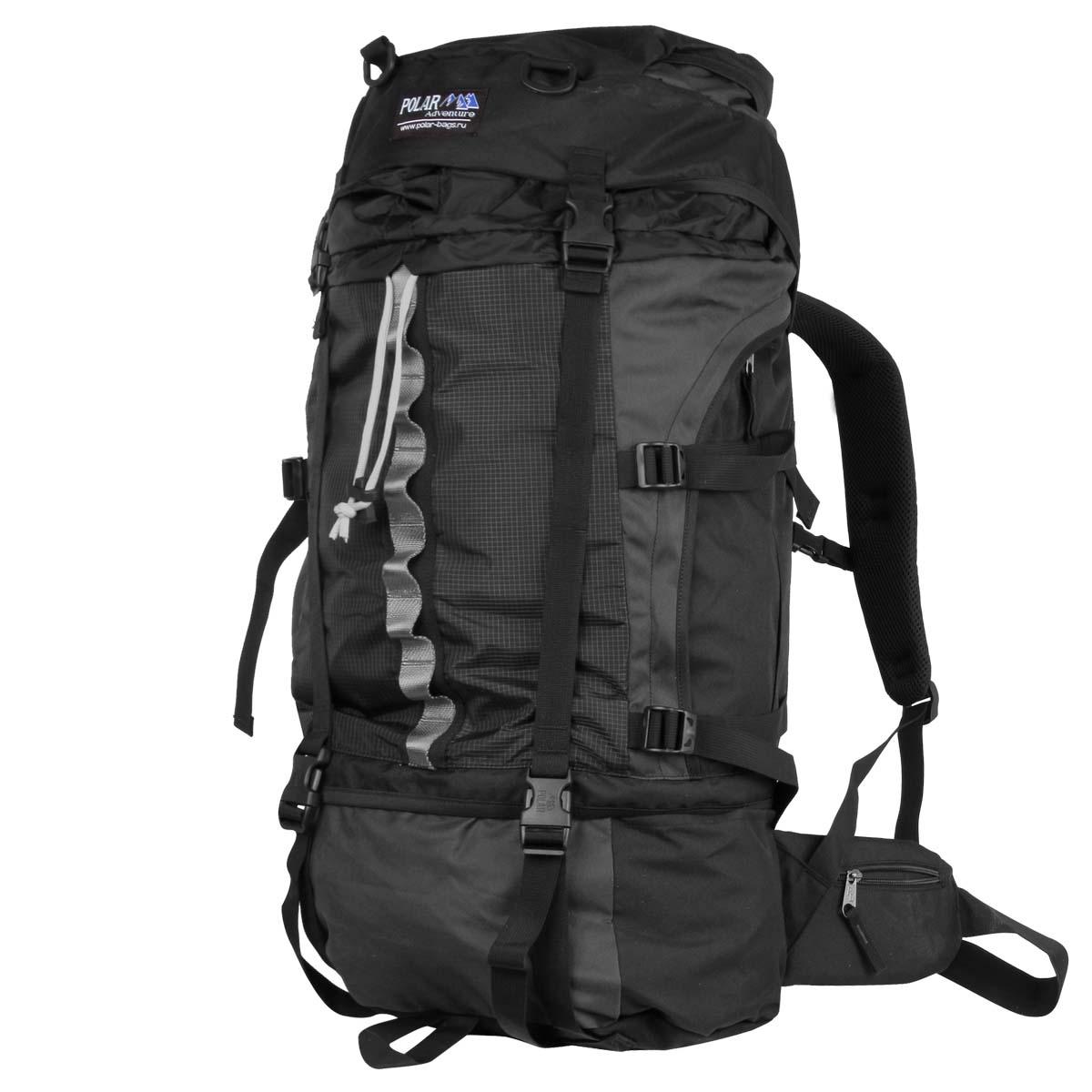 Рюкзак экспедиционный Polar, 50 л, цвет: черный. П931-05П931-05Туристический рюкзак фирмы Polar. Объем на 50 л. Отлично оснащенный рюкзак для альпинизма и туризма. Двойной доступ к основному отделению, множество карманов для мелочей и документов, карабин для ключей, карман для мобильного. Возможность крепления на рюкзак дополнительного оборудования. Регулируемая грудная стяжка с фиксатором. Регулируемый по длине поясной ремень с карманами на змейке. Материал: Polyester PU 600D.