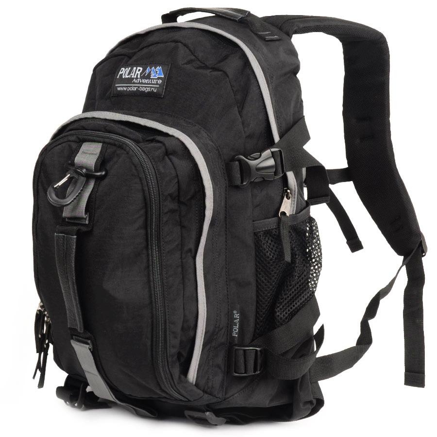 Рюкзак городской Polar, 21 л, цвет: черный. П955-05П955-05Городской рюкзак с модным дизайном. Полностью вентилируемая и удобная мягкая спинка, мягкие плечевые лямки создают дополнительный комфорт при ношении. Центральный отсек для персональных вещей и документов A4 на двухсторонних молниях для удобства. Маленький карман для mp3, CD плеера. Два боковых кармана под бутылки с водой на резинке. Регулирующая грудная стяжка с удобным фиксатором. Регулирующий поясной ремень, удерживает плотно рюкзак на спине, что очень удобно при езде на велосипеде или продолжительных походах. Система циркуляции воздуха Air. Материал Polyester.