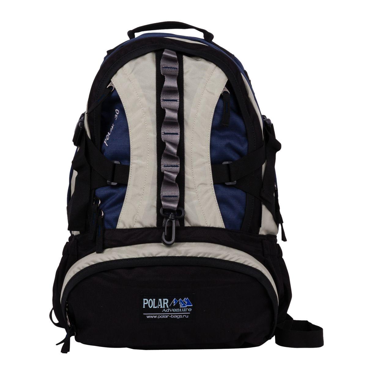Рюкзак городской Polar, 27 л, цвет: синий. П1003-04П1003-04двухсторонних молниях для удобства. Большой отсек для спортивной обуви т.п. Маленький карман для mp3, CD плеера. Выход для наушников. Два боковых кармана под бутылки с водой. Дождевик защищает рюкзак от намокания в дождливую погоду. Регулируемые ремни дают возможность крепления на рюкзак дополнительного оборудования. Регулируемая грудная стяжка с удобным фиксатором. Регулирующий поясной ремень удерживает плотно рюкзак на спине, что очень удобно при езде на велосипеде или продолжительных походах.