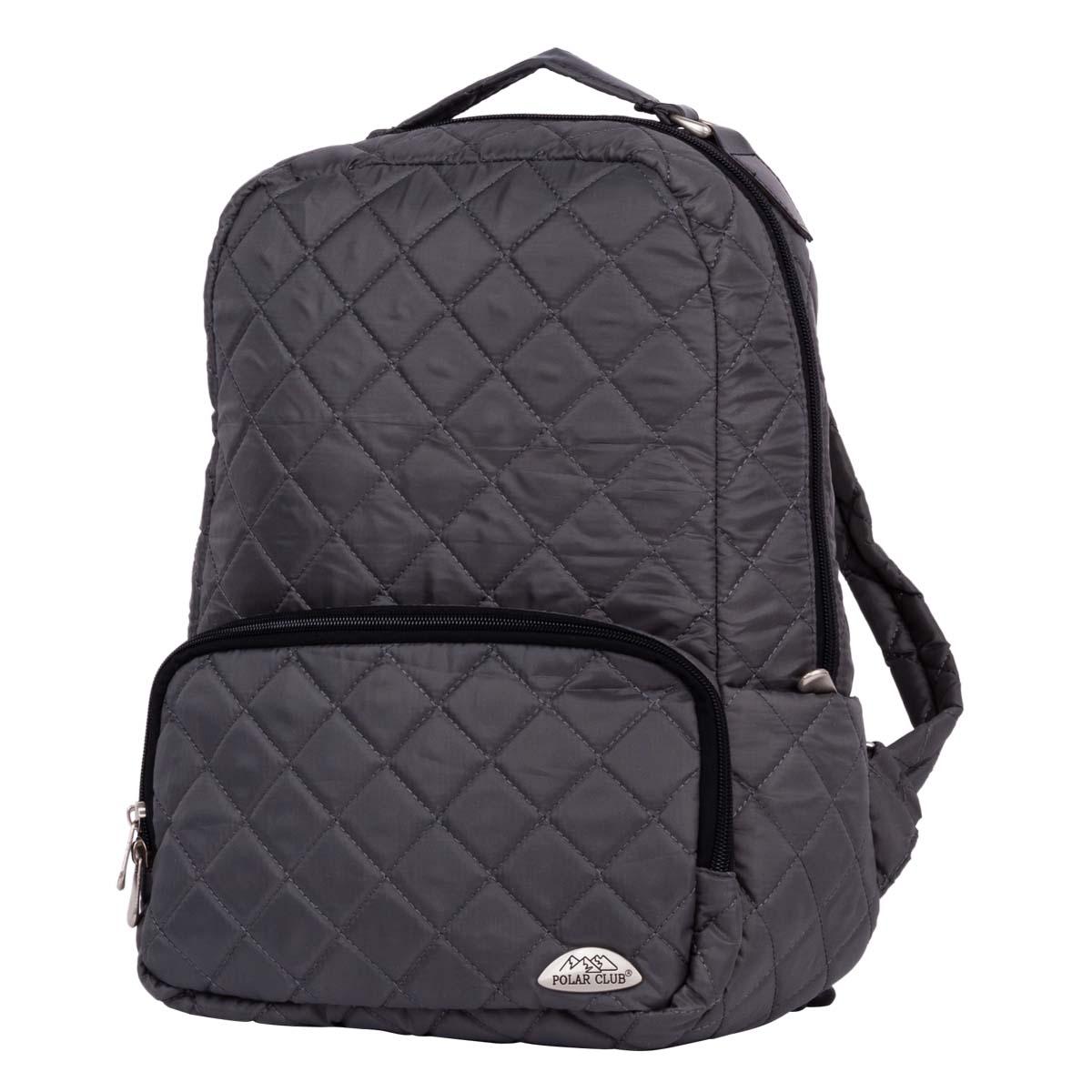 Рюкзак городской Polar, 14 л, цвет: серый. П7070-06П7070-06Абсолютно мягкий и удобный в использовании рюкзак Polar из стеганой ткани. Состоит из одного отделения, внутри которого большой карман на молнии и отделение для ноутбука до 14 или планшета. Снаружи расположен объемный карман на молнии. По бокам рюкзака небольшие открытые карманы. Лямки регулируются по длине. Сверху располагается ручка для переноски.