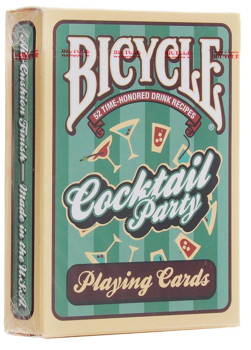 Карты игральные Bicycle Коктейльная вечеринка, 54 картыК-484Что может быть лучше хорошей вечеринки и игры в карты? На лицевой части карт написан рецепт коктейлей на английском языке (всего 52 рецепта). Надевайте платье, берите шейкер для мартини и колоду карт - будет весело! Карты Bicycle уже давно считаются классикой как среди любителей, так и в мире профессиональных игроков. Bicycle - это классические американские карты, которые выпускаются United States Playing Card Company с конца XIX века. Благодаря узнаваемому дизайну, отменному качеству и невысокой цене они пользуются популярностью во всем мире. Карты Bicycle отличает ряд особенностей. Покрытие Air-Cushion обеспечивает отличную сохранность. Классический размер позволяет уверено работать с любыми вариациями колод. Дизайн подходит как для игры в покер, так и для различных манипуляций.