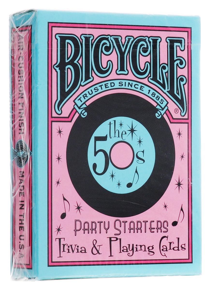 Карты игральные Bicycle Decades Cards 50-е, 54 картыК-245Колода Bicycle Decades Playing Cards вернет вас в прошлое, просто захватите ее с собой и ощутите ветер прошлого. Карты Bicycle уже давно считаются классикой как среди любителей, так и в мире профессиональных игроков. Bicycle - это классические американские карты, которые выпускаются United States Playing Card Company с конца XIX века. Благодаря узнаваемому дизайну, отменному качеству и невысокой цене они пользуются популярностью во всем мире. Карты Bicycle отличает ряд особенностей. Покрытие Air-Cushion обеспечивает отличную сохранность. Классический размер позволяет уверено работать с любыми вариациями колод. Дизайн подходит как для игры в покер, так и для различных манипуляций.