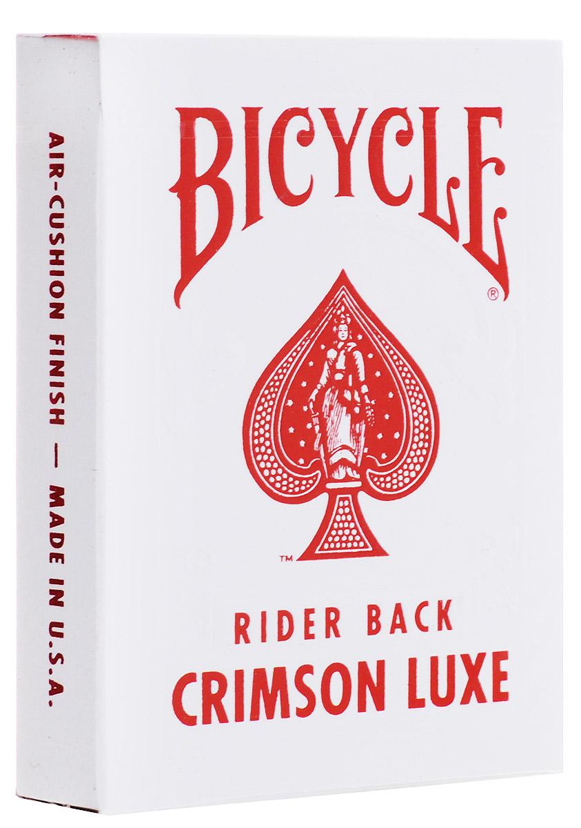 Карты игральные Bicycle MetalLuxe, цвет: красный, 54 картыК-559Карты игральные Bicycle MetalLuxe изготовлены по самой последней и современной технологии. Она придает картам идеальную гибкость и прочность. На краску нанесен настоящий металл, он придает невероятный блеск. Каждая карта блестит очень ярко и имеет насыщенный цвет. Использованы лучшие сорта бумаги при производстве этой колоды. В картах важна каждая деталь. И отдельное внимание заслуживает этикетка, которой закрыта колода. Она имеет уникальный серебристый цвет и штамп с надписью First Print. Изготовлено на фабрике USPCC в США.