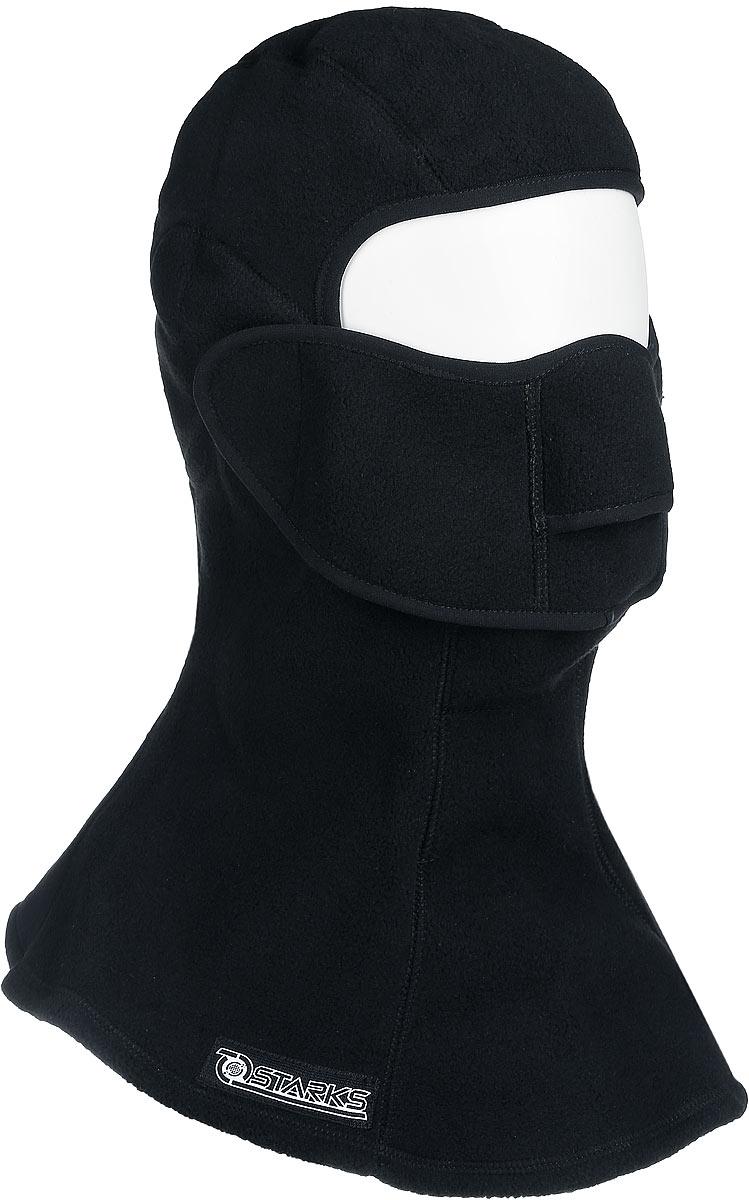 Подшлемник Starks Fleece Collar Open, с защитой шеи, цвет: черный. Размер S/MЛЦ0032_Черный_SПодшлемник Starks Fleece Collar Open предназначен для использования в условиях экстремального холода. Съемная лицевая часть позволяет легко открывать лицо. Подшлемник выполнен из высококачественного полиэстера. Изделие обеспечивает полную защиту лица и шеи от проницания влаги, холода, пыли. Снаружи и внутри флисовый ворс, который обеспечивает терморегуляцию, сохранение тепла, отведение влаги от лица к мембране и последующее выведение наружу. Защитная дышащая мембрана работает в обе стороны - изнутри сохраняет тепло, выводит влагу. Высота подшлемника: 41 см. Диаметр основания: 38 см.