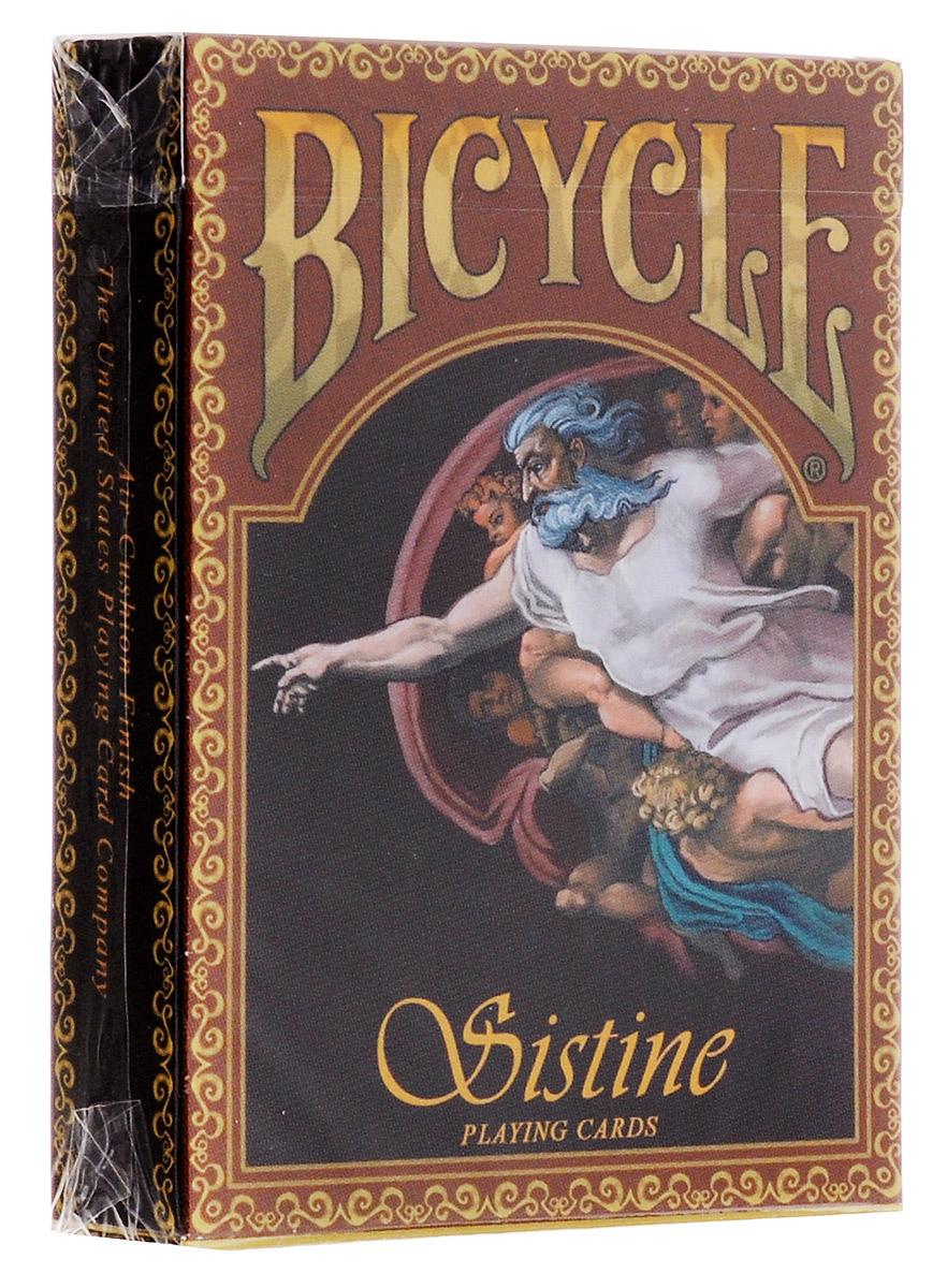 Карты игральные коллекционные Bicycle Сикстинская капелла, ограниченная серия, 54 картыК-588Коллекционные игральные карты Сикстинская капелла напечатаны ограниченной партией 1100 колод, и они никогда не будут переизданы снова. Каждая колода пронумерована, номер колоды указан на этикетке. Компания USPCC обычно не печатает карты такими маленькими тиражами, этим и объясняется высокая цена колоды. Но именно поэтому они имеют особую коллекционную ценность. Карты Bicycle уже давно считаются классикой как среди любителей, так и в мире профессиональных игроков. Bicycle - это классические американские карты, которые выпускаются United States Playing Card Company с конца XIX века. Благодаря узнаваемому дизайну, отменному качеству и невысокой цене они пользуются популярностью во всем мире. Карты Bicycle отличаются рядом особенностей. Покрытие Air-Cushion обеспечивает отличную сохранность. Классический размер позволяет уверено работать с любыми вариациями колод.