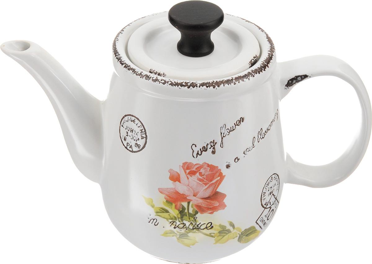 Чайник заварочный Patricia Роуз, 1,5 лIM15-0001Заварочный чайник Patricia Роуз изготовлен из высококачественной керамики с гладким глазурованным покрытием. Изделие декорировано цветочным рисунком. Любой чай в таком изысканном чайнике станет для вас наслаждением, поводом отдохнуть и перевести дыхание. Он прекрасно украсит сервировку стола к чаепитию. Можно мыть в посудомоечной машине и использовать в микроволновой печи. Диаметр (по верхнему краю): 10 см. Внутренний диаметр: 7 см. Высота чайника (без учета крышки): 14,5 см. Высота чайника (с учетом крышки): 16,5 см.