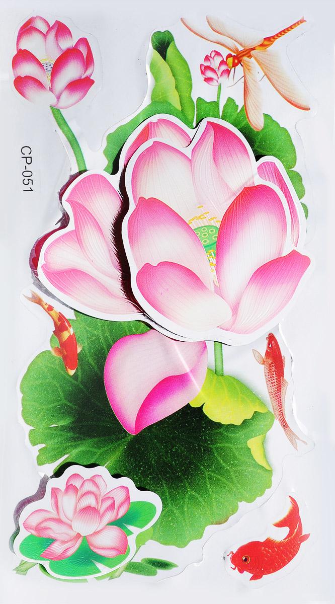 Room Decor Наклейка интерьерная 3D Парковые цветы 2 шт CP-051 ( 847636_CP-051 )