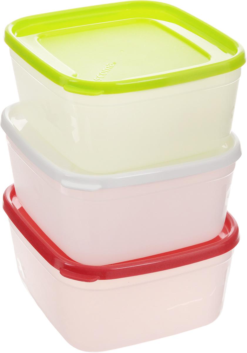 Набор контейнеров для заморозки Tescoma Purity, 500 мл, 3 шт891862Набор Tescoma Purity, выполненный из высококачественного пищевого пластика, состоит из трех контейнеров с плотно закрывающимися цветными крышками. Изделия отлично подходят для хранения продуктов в морозильной камере или холодильнике. Контейнеры удобно складываются друг в друга, что экономит пространство при хранении в шкафу. Пригодны для морозильников, холодильников, микроволновых печей. При использовании в микроволновой печи всегда оставляйте крышку приоткрытой. Можно мыть в посудомоечной машине. Объем контейнера: 500 мл. Размер контейнера (без учета крышки): 12 х 12 х 6,7 см.