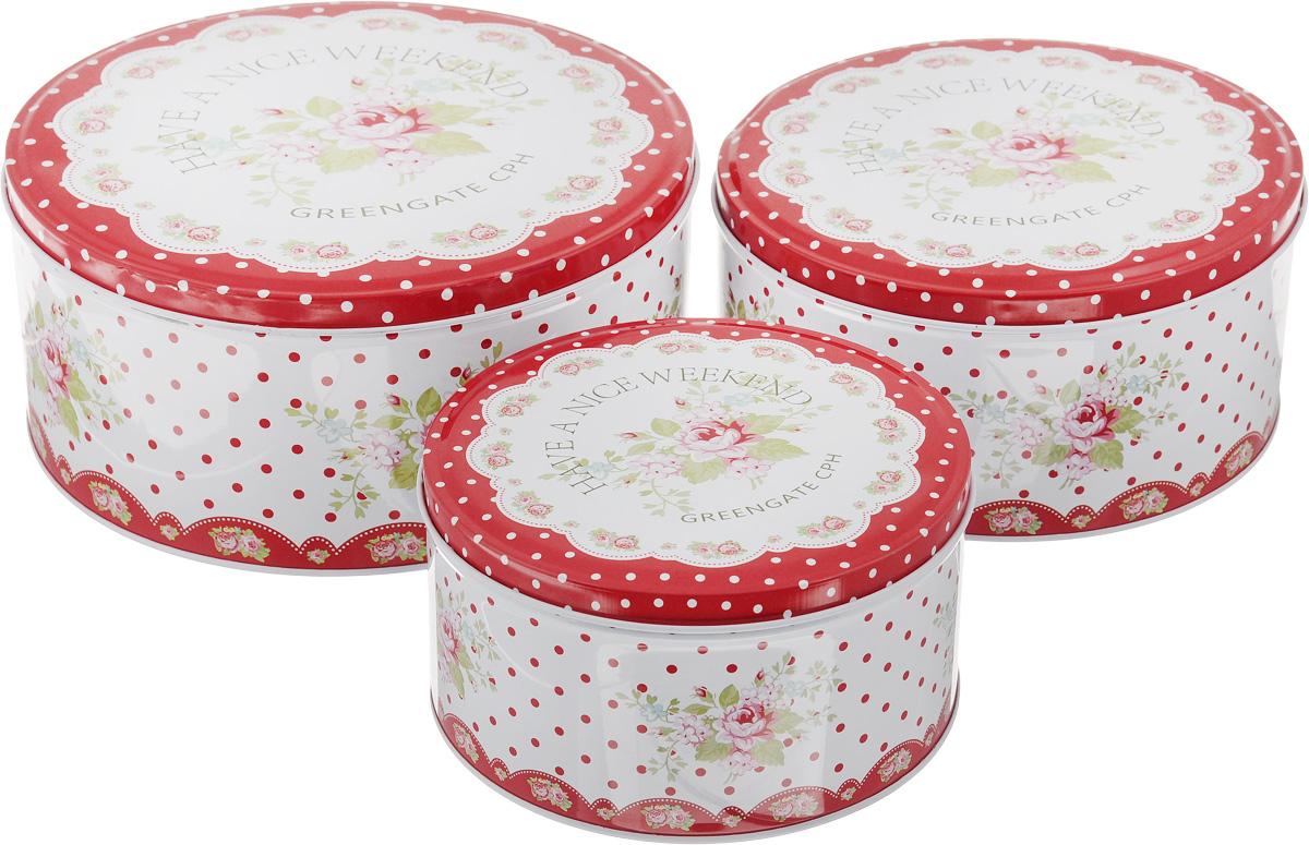 Набор банок для хранения Patricia Букет, 3 штIM99-4310Набор Patricia Букет, выполненный из высококачественного железа, состоит из трех банок с плотно закрывающимися крышками. Изделия, декорированные яркими изображениями, имеют классическую круглую форму. Такие банки прекрасно подходят для хранения сахара, специй, круп, чая, конфет, орехов, печенья и других сыпучих продуктов. Также изделия можно использовать для хранения различных хозяйственных мелочей. Набор Patricia Букет впишется в любой интерьер современной кухни, а также станет практичным подарком для ваших близких. Диаметр малой банки (по верхнему краю): 13,5 см. Высота малой банки: 7,2 см. Диаметр средней банки (по верхнему краю): 16,7 см. Высота средней банки: 8 см. Диаметр большой банки (по верхнему краю): 19,5 см. Высота большой банки: 9 см. Объем банок: 950 мл, 1,6 л, 2,3 л. УВАЖАЕМЫЕ КЛИЕНТЫ! Обращаем ваше внимание, что объем банок измерен по факту, с учетом максимального наполнения...