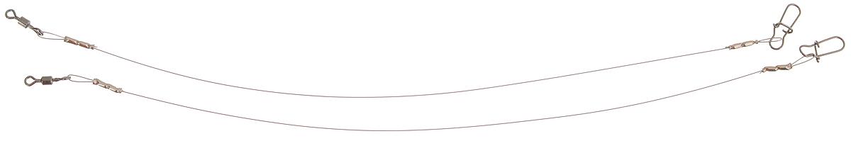 Поводок Win Soft Mirror, мягкий, тест 4 кг, 12,5 см, 2 шт56984Поводок Win Soft Mirror изготовлен из особого титанового сплава. Он отражает и рассеивает свет, при невысокой освещенности становится невидимым. Мягкость и пластичность обеспечивает приманке большую свободу движений. При небольших механических повреждениях поводок восстанавливает форму от тепла рук. Многократно растягивается до 8% под нагрузкой без ущерба прочности. Не подвержен коррозии, не токсичен. Особенности поводка: Многократно испытан на прочность. Высококачественная фурнитура подобрана с достаточным запасом прочности. Контроль качества на всех этапах производства. Длина поводков: 12,5 см. Тест: 4 кг. Диаметр: 0,2 мм.