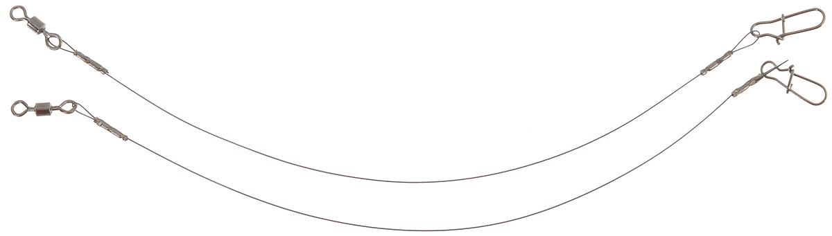 Поводок Win Soft, мягкий, тест 6 кг, 10 см, 2 шт56974Поводок Win Soft изготовлен из особого титанового сплава. Материал производится по специальной технологии, отличается специальным легированием и дополнительной термомеханической обработкой. Мягкость и пластичность обеспечивает приманке большую свободу движений. При небольших механических повреждениях поводок восстанавливает форму от тепла рук. Многократно растягивается до 8% под нагрузкой без ущерба прочности. Не подвержен коррозии, не токсичен. Особенности поводка: Многократно испытан на прочность. Высококачественная фурнитура подобрана с достаточным запасом прочности. Контроль качества на всех этапах производства. Длина поводков: 10 см. Тест: 6 кг. Диаметр: 0,25 мм.