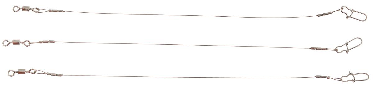 Поводок Win AFW, тест 5,5 кг, 10 см, 3 шт56957Поводки Win AFW выполнены из высококачественного материала Surfstrand Micro Supreme 7x7 AFW. Данный материал имеет маскирующее покрытие САМО, подходящее для большинства водоемов. Поводки очень мягкие и устойчивые к деформациям, не подвержены коррозии, деформациям. Особенности поводков: Многократно испытаны на прочность. Высококачественная фурнитура подобрана с достаточным запасом прочности. Контроль качества на всех этапах производства. Длина поводков: 10 см. Тест: 5,5 кг. Диаметр: 0,23 мм.