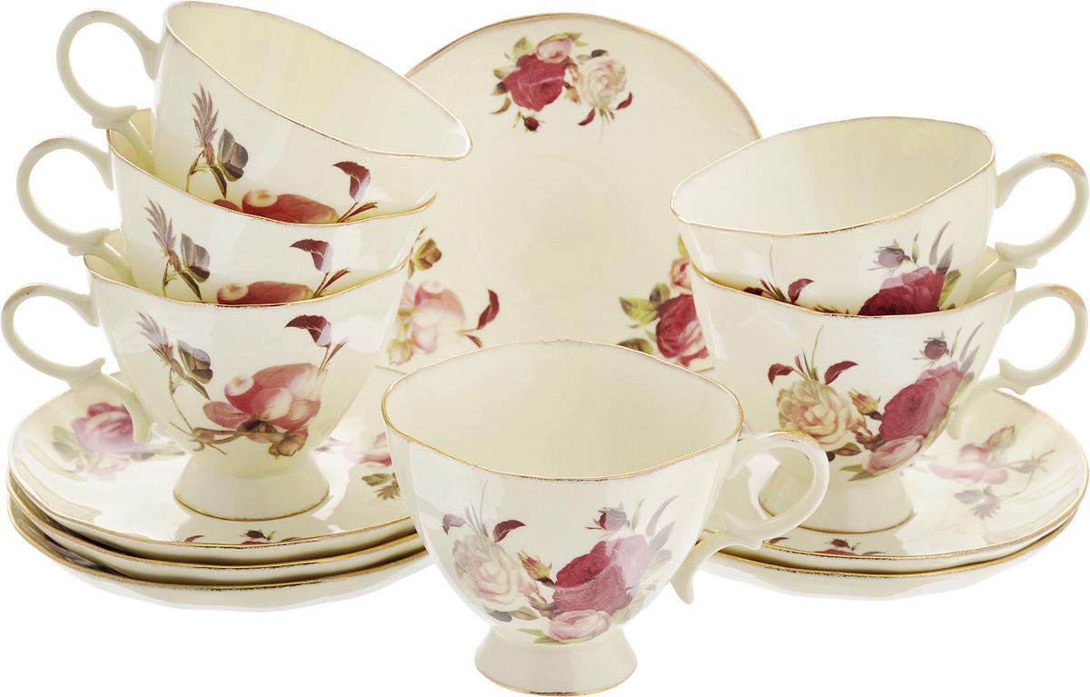 Набор чайный Patricia Яркая роза, 12 предметов