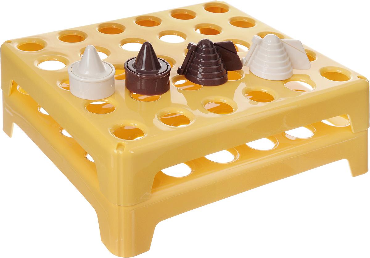 Формочки для печенья Tescoma Delicia, 60 ячеек631644Формочки для печенья Tescoma Delicia изготовлены из высококачественного пластика. Предназначены для вырезания печенья Осиное гнездо, создания сладких украшений. Можно использовать как трафареты для поделок и с непищевыми материалами. С такими формами- резаками можно сделать множество интересных фигурок и поделок. В набор входит пластиковое формы для хранения. Рецепт приготовления печенья внутри. Размер форм: 25 х 21 см. Высота форм: 4,5 см. Диаметр формы: 2,3 см. Диаметр кольца: 8 см.