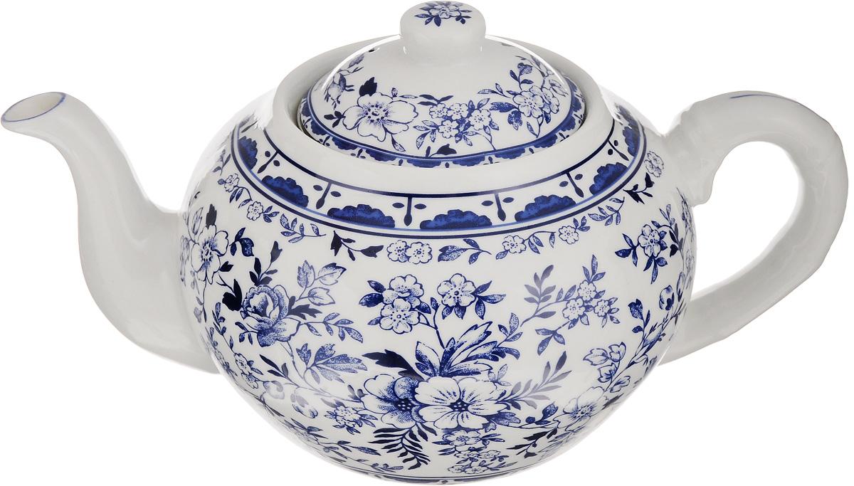 Чайник заварочный Patricia Флер, с фильтром, 1 лIM56-0202Заварочный чайник Patricia Флер, изготовленный из высококачественного фарфора, декорирован цветочными изображениями. Изделие снабжено съемным металлическим фильтром и удобной ручкой. Любой чай в таком изысканном чайнике станет для вас наслаждением, поводом отдохнуть и перевести дыхание. Он прекрасно украсит сервировку стола к чаепитию. Благодаря красивому утонченному дизайну и качеству исполнения, такой чайник станет хорошим подарком друзьям и близким. Можно мыть в посудомоечной машине и использовать в микроволновой печи. Диаметр чайника (по верхнему краю): 8,5 см. Внутренний диаметр чайника: 6,3 см. Высота чайника (без учета крышки): 10 см. Высота фильтра: 5,3 см.