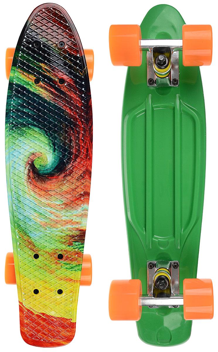 "Скейтборд пластиковый Fish ""Твистер"", дека 56 х 15 см TLS-401G _Twister"