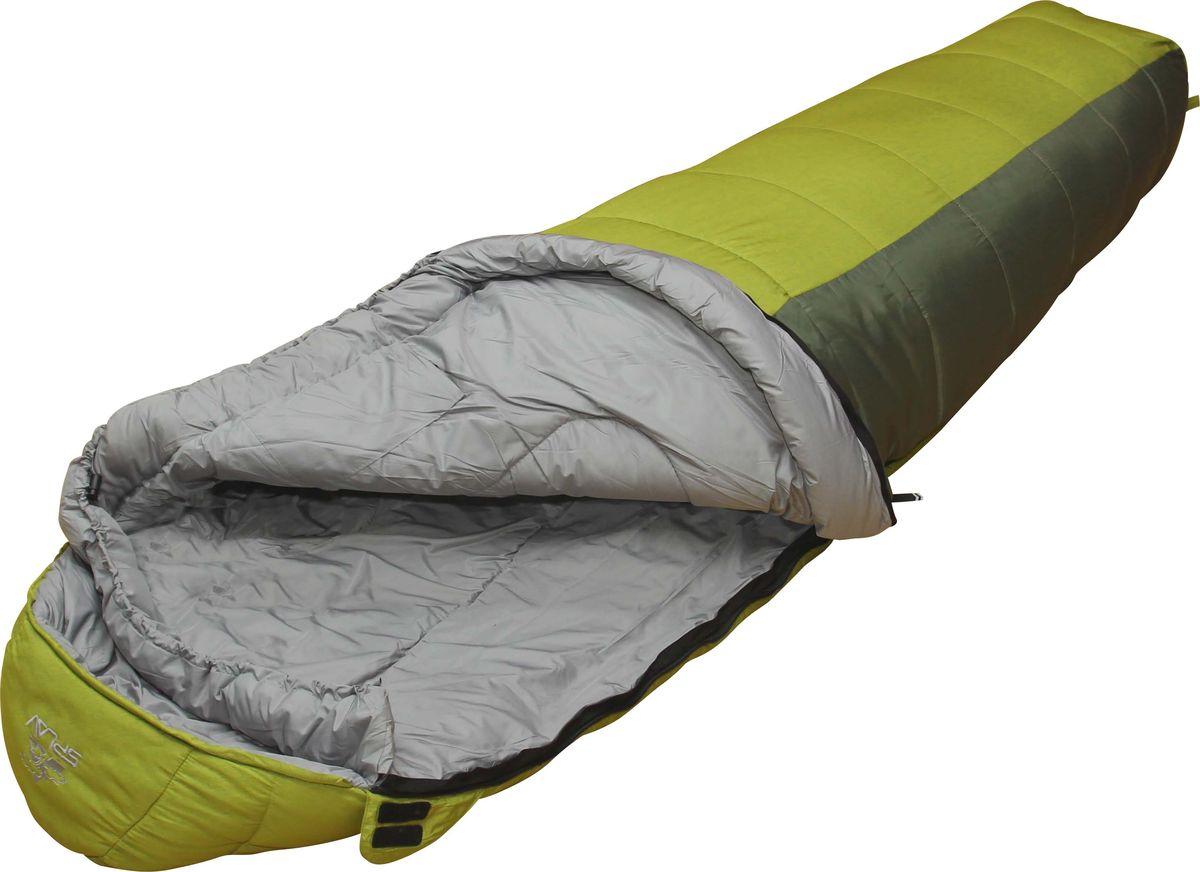 Спальный мешок Сплав Sherpa 400, правосторонняя молния, цвет: зеленый5101650Классический спальный мешок, имеет оптимальное соотношение температурного диапазона, веса и цены Тип конструкции: кокон Внутренний кармашек на молнии Молния: разъемная, двухсторонняя, двух замковая Выпускаются модификации с правой и левой молнией, что позволяет состегивать спальники между собой Шейный пакет Утепленная защитная подпланка молнии Петли для просушки Упаковка: компрессионный мешок в комплекте Внимание! длительное хранение в сжатом виде не рекомендуется. Температура использования: Комфорт: +3… -2° С Экстрим: -12° С Габариты и вес: Размеры: 205?75?50 см Полный вес: 2,02 кг Минимальный вес: 1,89 кг Размеры в упакованном / сжатом виде: Д20?40/29 см Размеры: 220?80?55 см Полный вес: 2,13 кг Минимальный вес: 1,99 кг Размеры в упакованном / сжатом виде: Д20?41/30 см Размеры: 240?85?60 см Полный вес: 2,50 кг Минимальный вес: 2,37 кг Размеры в упакованном / сжатом виде: Д20?42/31 см Внешняя ткань:...