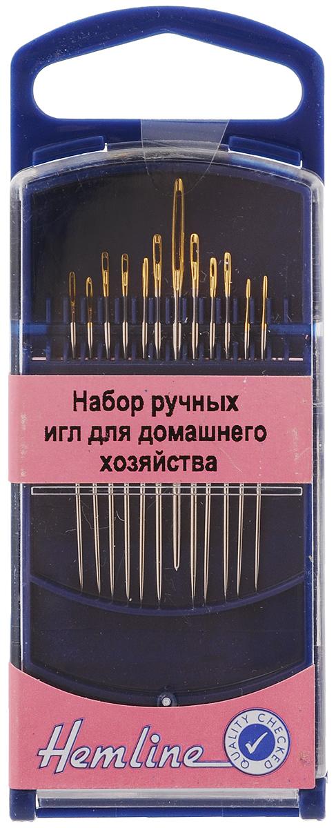 Набор ручных игл Hemline, для домашнего хозяйства, в контейнере, №5, 7, 8, 19, 12 шт214GНабор Hemline состоит из 12 ручных игл, выполненных из высококачественной стали. Ушко игл золотистого цвета. Иглы подходят для шитья и рукоделия. Рукоделие всегда считалось изысканным и благородным делом. Работа, сделанная своими руками, долго будет радовать вас и ваших близких. Изделия упакованы в пластиковый контейнер. Набор ручных игл Hemline станет вам надежным помощником в рукоделии и шитье. Размеры игл: №19 - 1 шт (с круглым кончиком); №5 - 2 шт (с острым кончиком); №7 - 5 шт (с острым кончиком); №8 - 4 шт (с острым кончиком). Общее количество игл: 12 шт.