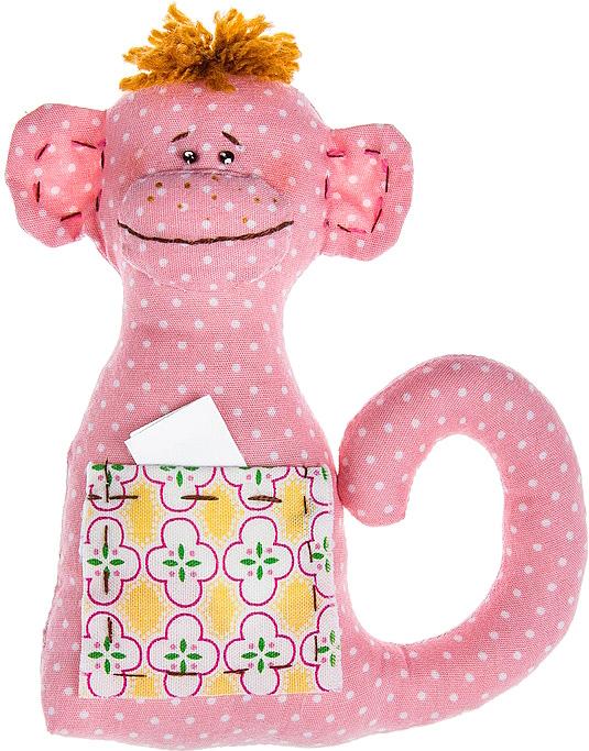 Набор для шитья игрушки Цветница Обезьянчик с карманчиком, 14 смИН012Обезьянчик c карманчиком. Набор для шитья текстильной игрушки. Туловище игрушки выстрочено. Наполнитель для набивания в комплект не входит. Комплектность набора: Выстроченные детали туловища, ткань для остальных деталей- хлопок 100%, бусины, нитки мулине, пряжа, инструмент для выворачивания, инструкция по пошиву. Размер в готовом виде (высота), см: 14.