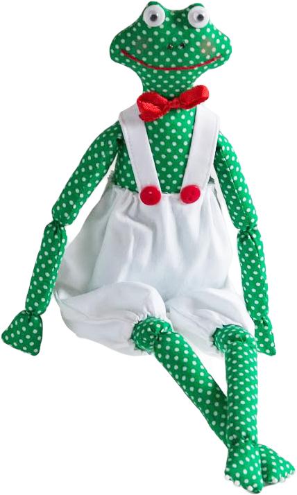 Набор для шитья игрушки Цветница Лягушка месье Жан, 34 смИН017Лягушка месье Жан. Набор для шитья текстильной игрушки. Туловище игрушки выстрочено. Наполнитель для набивания в комплект не входит. Комплектность набора: Выстроченные детали туловища, ткань и выкройка для одежды-хлопок 100%, нитки мулине, пуговицы, кукольные глазки, бусины, атласная лента, инструмент для выворачивания, инструкция по пошиву. Размер в готовом виде (высота), см: 34.