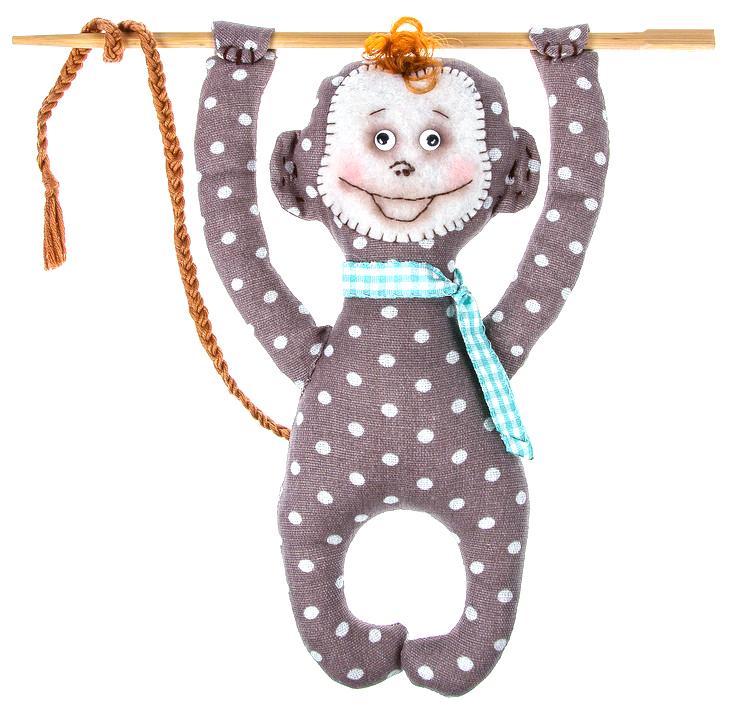 Набор для шитья игрушки Цветница Мистер Манки, 22 смИН030Мистер Манки. Набор для шитья текстильной игрушки. Туловище игрушки выстрочено. Наполнитель для набивания в комплект не входит. Комплектность набора: Выстроченные детали туловища, ткань и выкройка для остальных деталей - хлопок 100%, фетр, нитки мулине, глазки кукольные, пряжа, лента шотландка, инструмент для выворачивания, инструкция по пошиву. Размер в готовом виде (высота), см: 22.