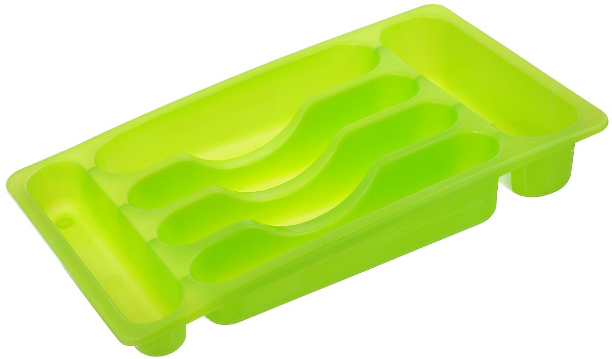 Подставка для столовых приборов Oriental Way, цвет: салатовый, 39 х 24 х 6,5 см154EH_салатовыйПодставка Oriental Way, выполненная из высококачественного пластика, станет полезным приобретением для вашей кухни. Подставка имеет шесть отделений для разных видов столовых приборов. Такую подставку вы можете вложить в кухонный ящик и удобно расположить все столовые приборы. Каждая хозяйка знает, что подставка для столовых приборов - это незаменимый и очень полезный аксессуар на каждой кухне.