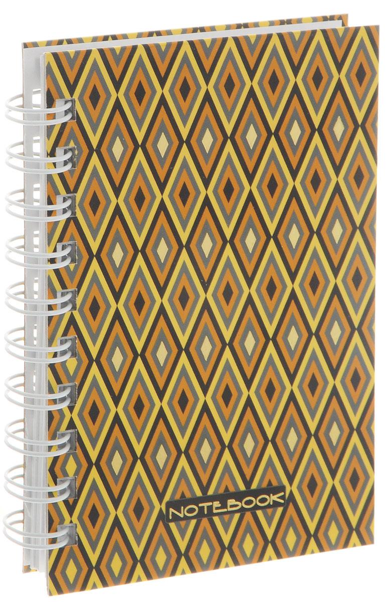 Listoff Тетрадь Безупречный стиль 100 листов в клетку формат А6ТСФЛ61004291Тетрадь Listoff Безупречный стиль подойдет как школьнику, так и взрослому человеку. Обложка тетради оформлена оригинальным орнаментным рисунком с ромбами. Твердая обложка тетради придает ей прочность и долговечность. Тетрадь формата А6 удобно носить с собой даже в небольшой сумке. Внутренний блок тетради состоит из 100 листов белой бумаги с линовкой в мелкую клетку. Листы тетради соединены металлической спиралью, благодаря чему можно быстро и удобно перелистывать страницы.