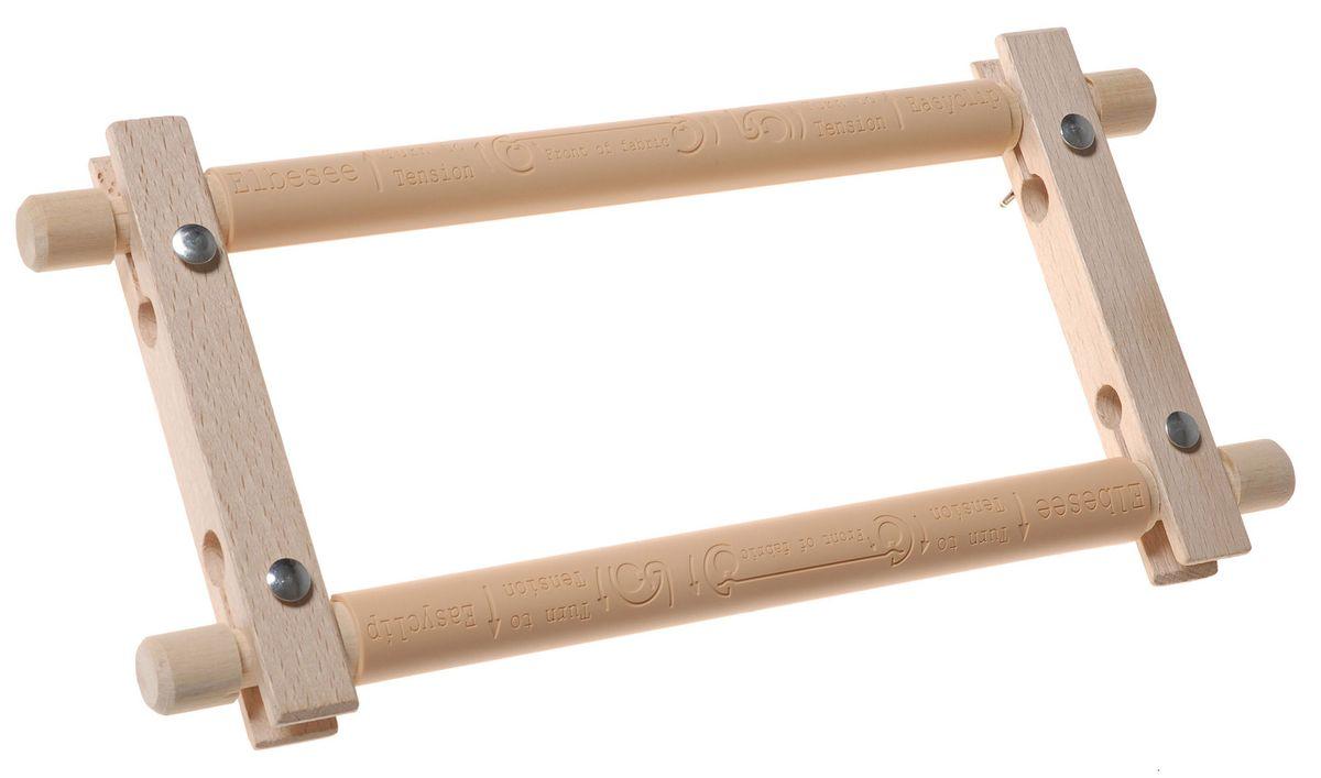 Пяльцы-рамка Elbesee 23 х 15 смE96Канва легко закрепляется на планках с помощью зажимов. Необходимое количество зажимов входит в комплект. Материал: дерево