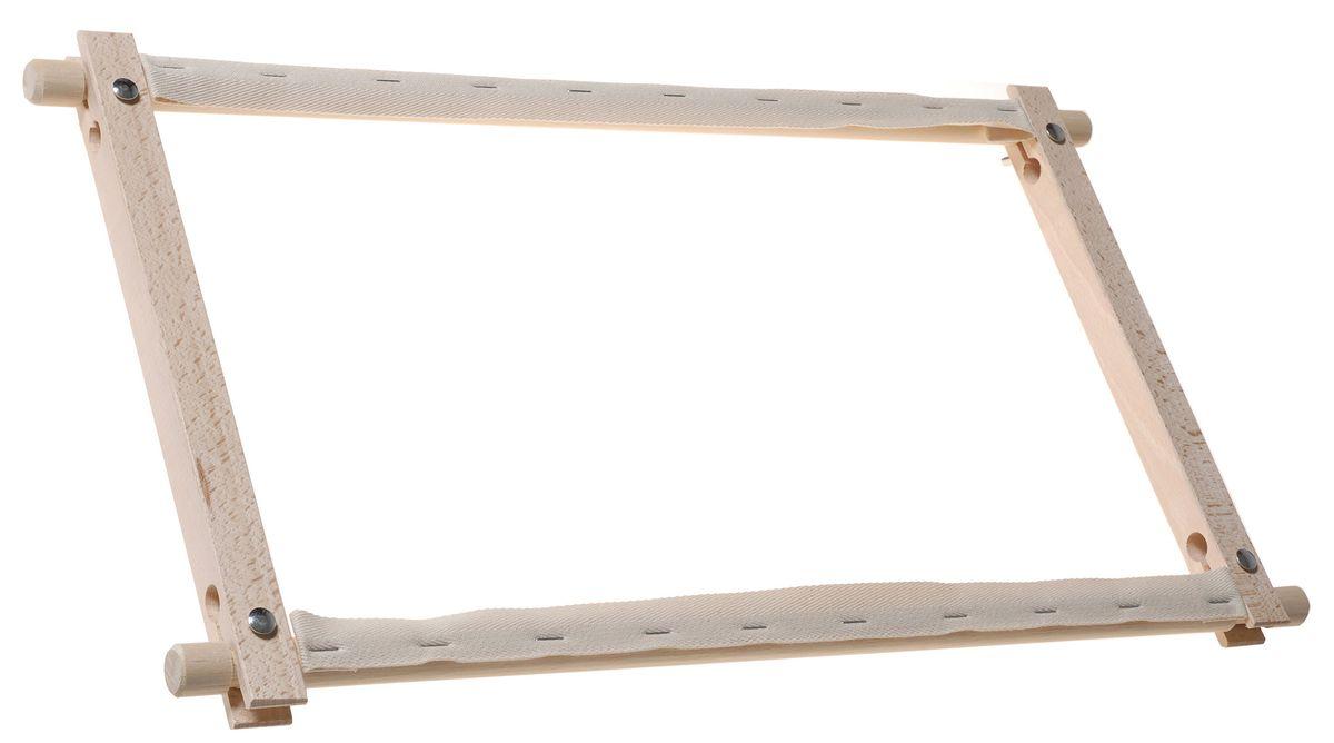 Пяльцы-рамка Elbesee с вращающимися планками, 45 х 30 смROT1812Вращающиеся планки удобны в работе для прокручивания натянутой канвы, ткани. Материал: дерево