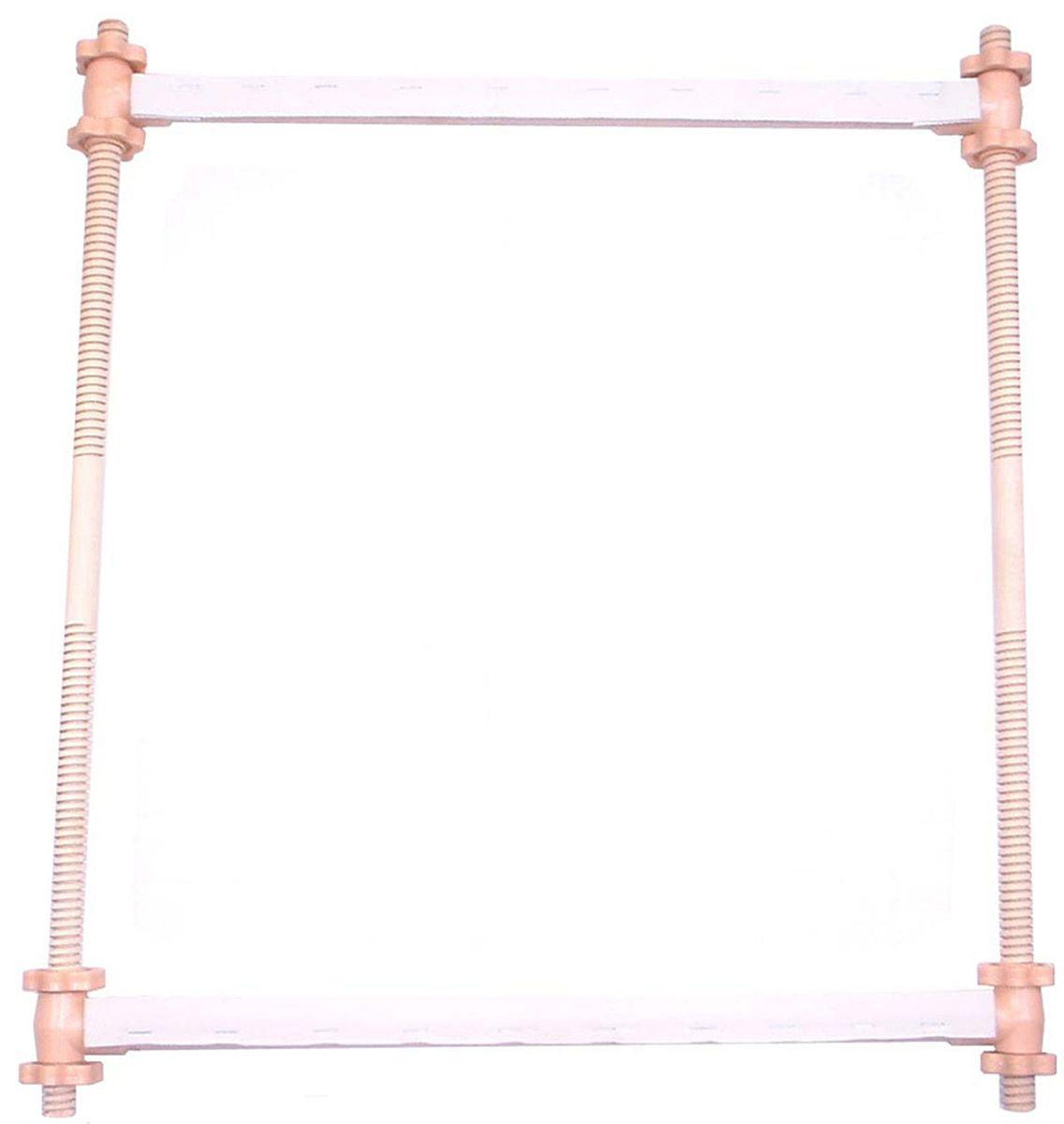 Пяльцы-рамка Elbesee с регулируемыми планками, 61 х 55 смSFO24Высота винтовых боковых планок регулируется от 13 до 52 см. Канва легко прокручивается на планках. Материал: дерево