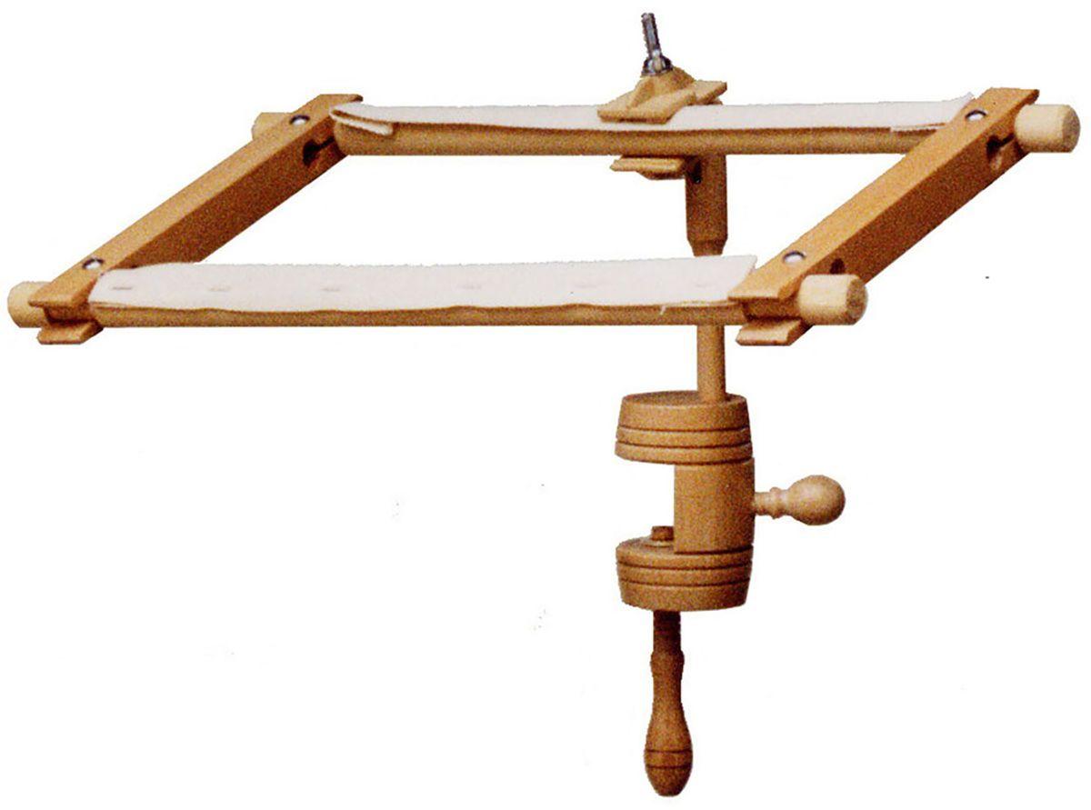 Держатель пялец Elbesee универсальный, с креплением к столуVCLAMPПодходит для рамок размером 30х23 см и/или пялец диаметром до 30 см (не входят в комплект). Регулируемая высота. Регулируемый угол наклона рамки/пялец. Материал: дерево