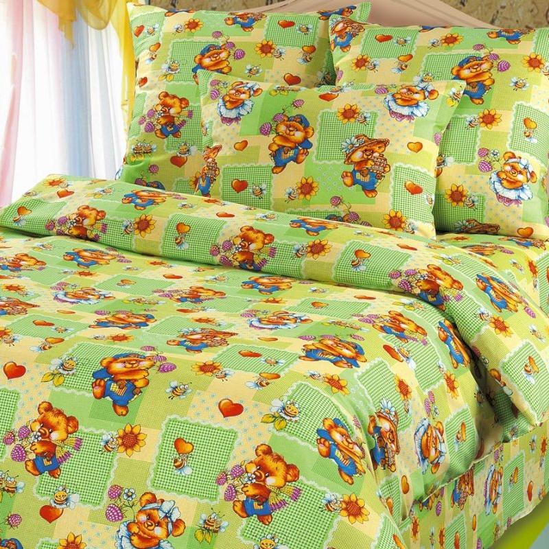 Комплект детского постельного белья ROKO. Веселая полянка, 1,5 сп, бязь202Для производства постельного белья используются экологичные ткани высочайшего качества: Бязь - хлопчатобумажная плотная ткань полотняного переплетения. Отличается прочностью и стойкостью к многочисленным стиркам. Бязь считается одной из наиболее подходящих тканей, для производства постельного белья и пользуется в России большим спросом.