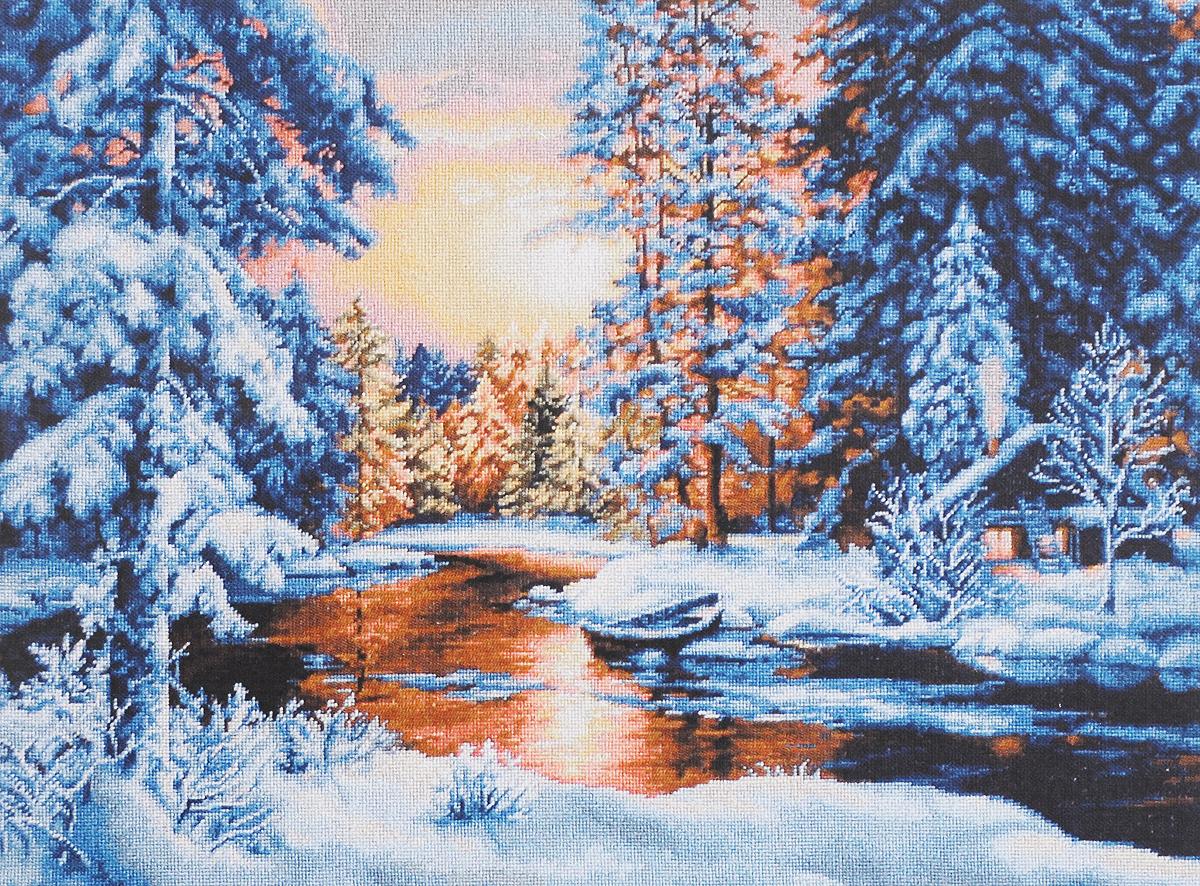 Набор для вышивания Luca-S Зимний закат, 51 см х 36 см