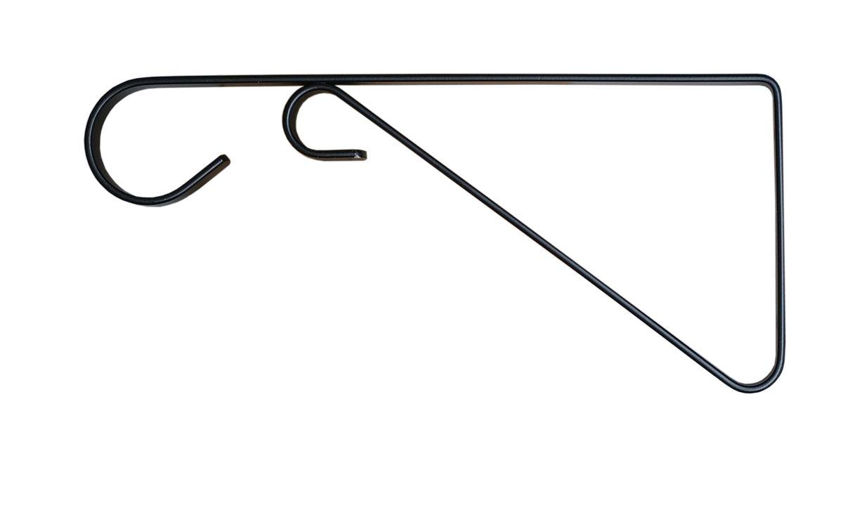 Кронштейн для кашпо Masterprof, с ребром жесткости, 23 см, цвет: черныйHS.040001Кронштейн для подвешивания кашпо, фонарей и пр. Подходит для использования внутри и снаружи помещений. Рабочая длина 23 см. Максимальная нагрузка на кронштейн - 18,1 кг. Диаметр используемого кашпо до 30,5 см. Цвет - Черный.