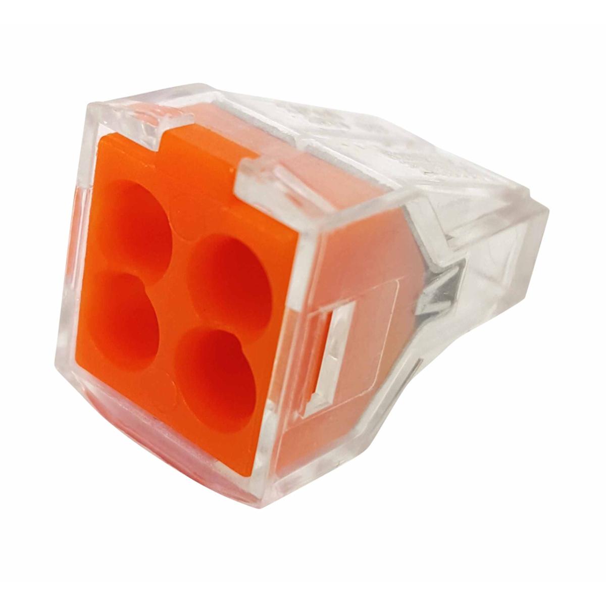 Клемма строительно-монтажная Blox КБМ, 4x2,5 мм2, 10 штЭТ.120015Строительно-монтажные клеммы КБМ (клеммы быстрого монтажа) применяются для соединения и ответвления одножильных медных и алюминиевых проводов или многожильных медных проводов с наконечником в электрических цепях переменного тока напряжением до 380В с частотой 50 Гц. Сечение: 2,5мм2 Количество проводников: 4 Тип провода: Медный одножильный провод; Медный многожильный провод Контактные группы: Однополярный