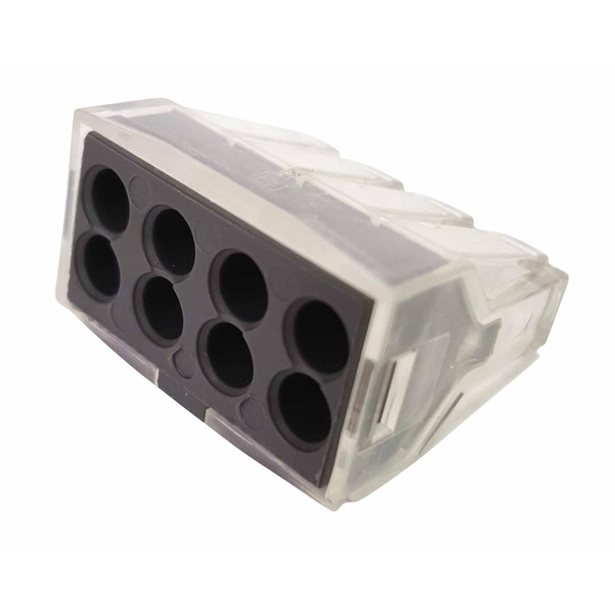 Клемма строительно-монтажная Blox КБМ, 8x2,5 мм2, 10 штЭТ.120017Строительно-монтажные клеммы КБМ (клеммы быстрого монтажа) применяются для соединения и ответвления одножильных медных и алюминиевых проводов или многожильных медных проводов с наконечником в электрических цепях переменного тока напряжением до 380В с частотой 50 Гц. Сечение: 2,5мм2 Количество проводников: 8 Тип провода: Медный одножильный провод; Медный многожильный провод Контактные группы: Однополярный